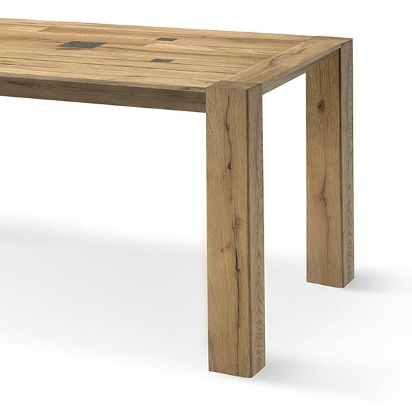 Gambe In Legno Per Tavoli.Tavolo Con Gambe In Legnodritte Domus Artis